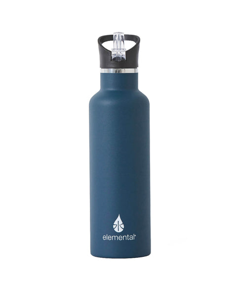 Elemental Stainless Steel Sport Water Bottle - 25oz Navy Blue - Elemental Gifts