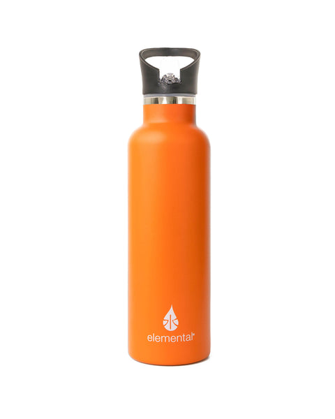Elemental Stainless Steel Sport Water Bottle - 25oz Orange