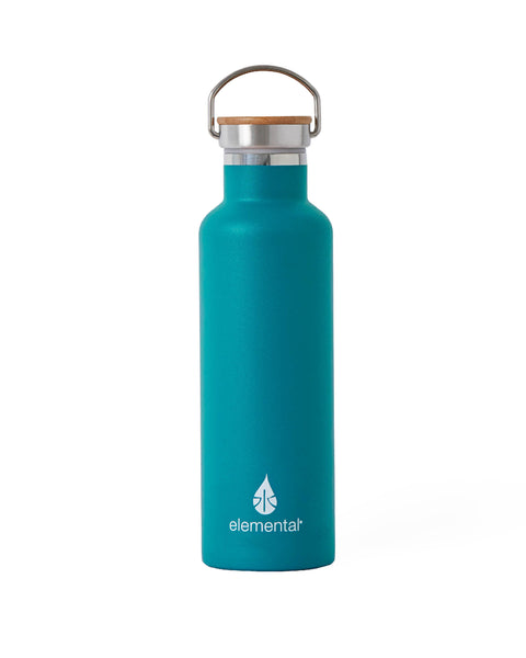 Elemental Stainless Steel Classic Water Bottle - 25oz Matte Teal