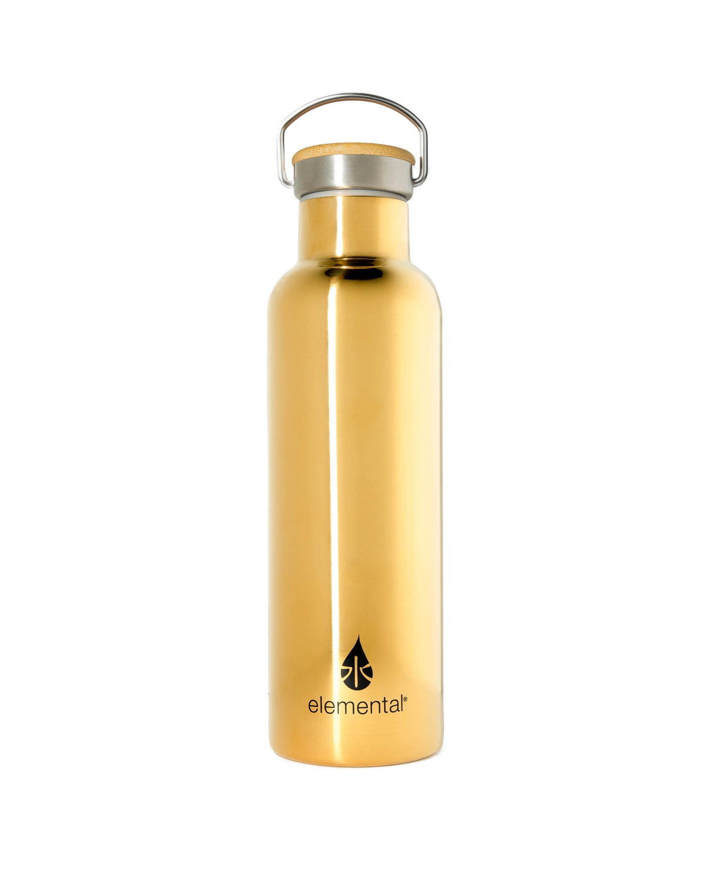 Elemental Stainless Steel Classic Water Bottle - 25oz Gold - Elemental Gifts