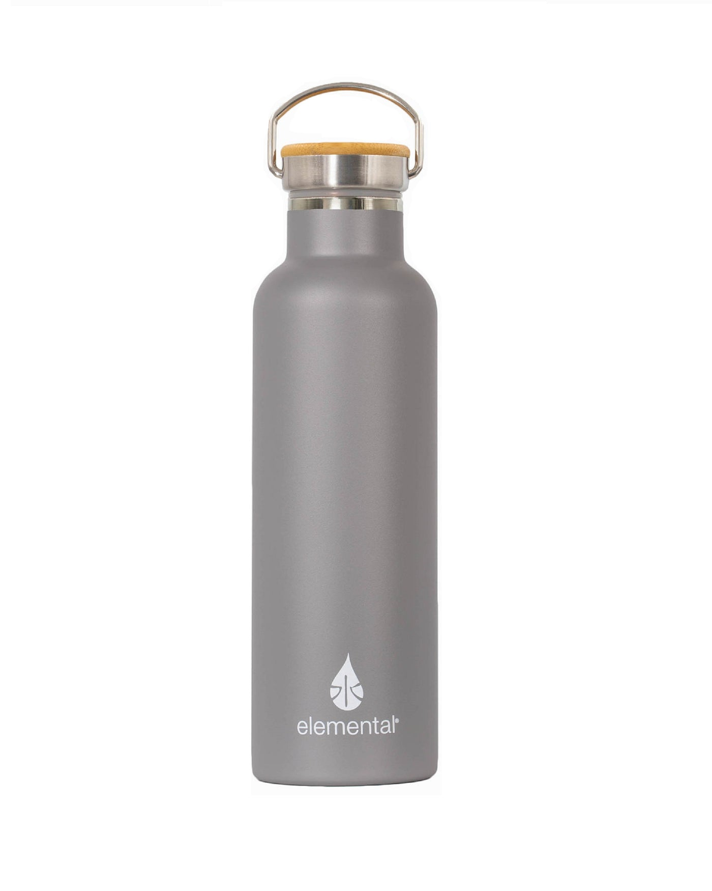 Elemental Stainless Steel Classic Water Bottle - 25oz Graphite - Elemental Gifts