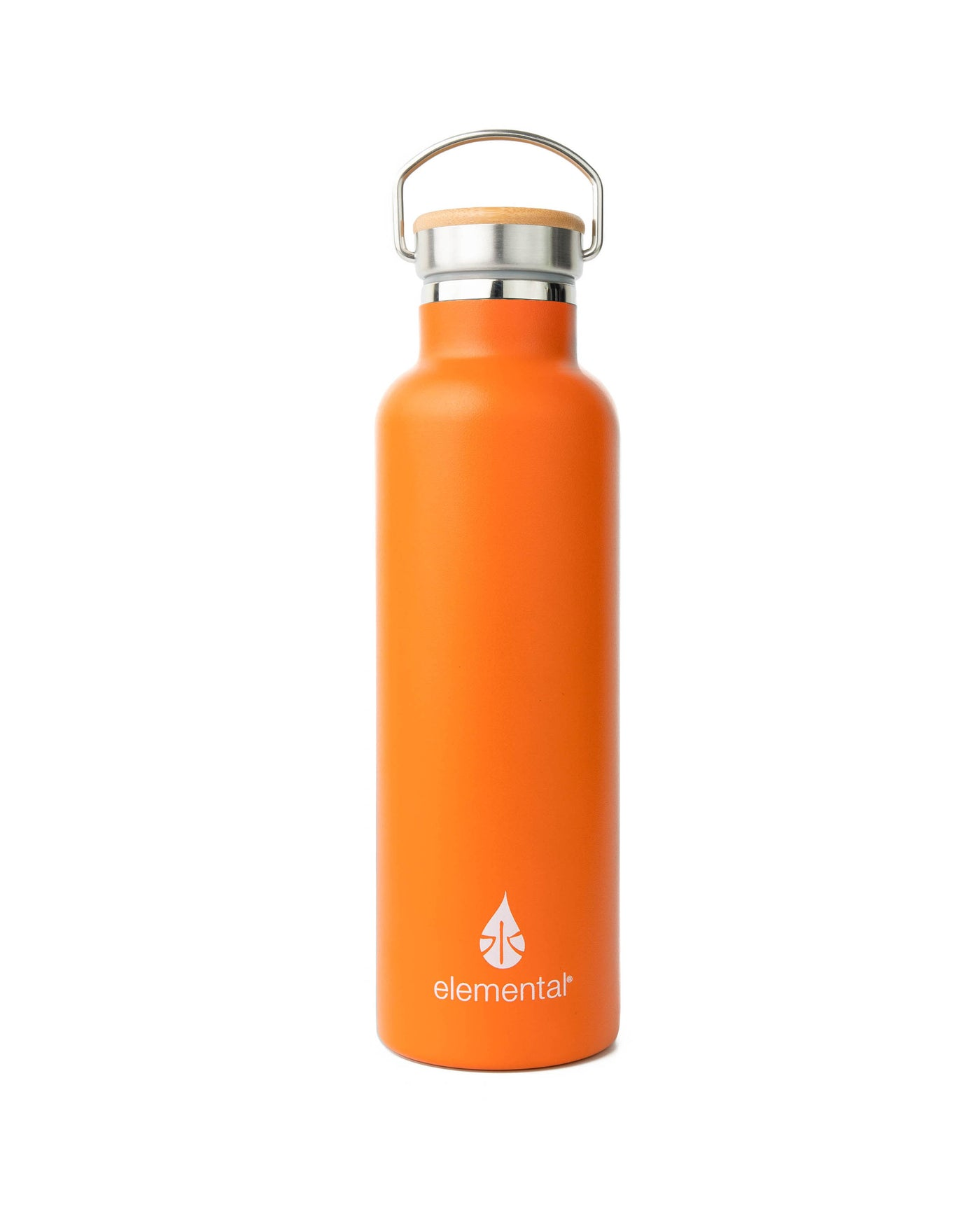 Elemental Stainless Steel Classic Water Bottle - 25oz Orange - Elemental Gifts