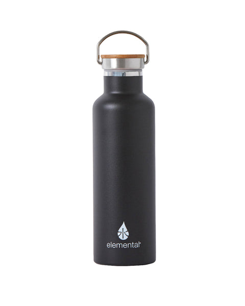 Elemental Stainless Steel Classic Water Bottle - 25oz Matte Black - Elemental Gifts
