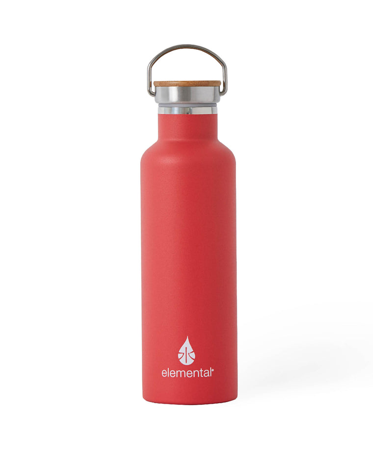 Elemental Stainless Steel Classic Water Bottle - 25oz Matte Red