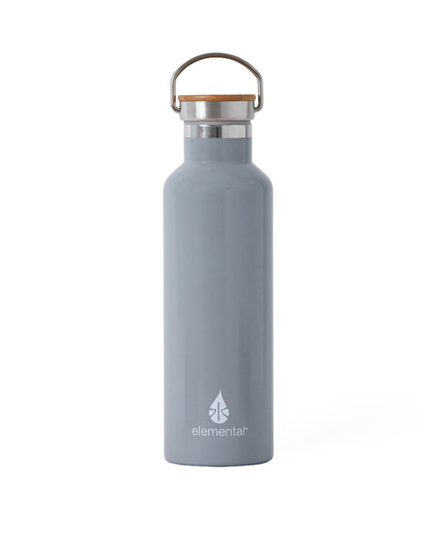 Elemental Stainless Steel Classic Water Bottle - 25oz Gloss Storm Grey - Elemental Gifts