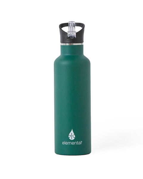 Elemental Stainless Steel Sport Water Bottle - 25oz Forest Green - Elemental Gifts