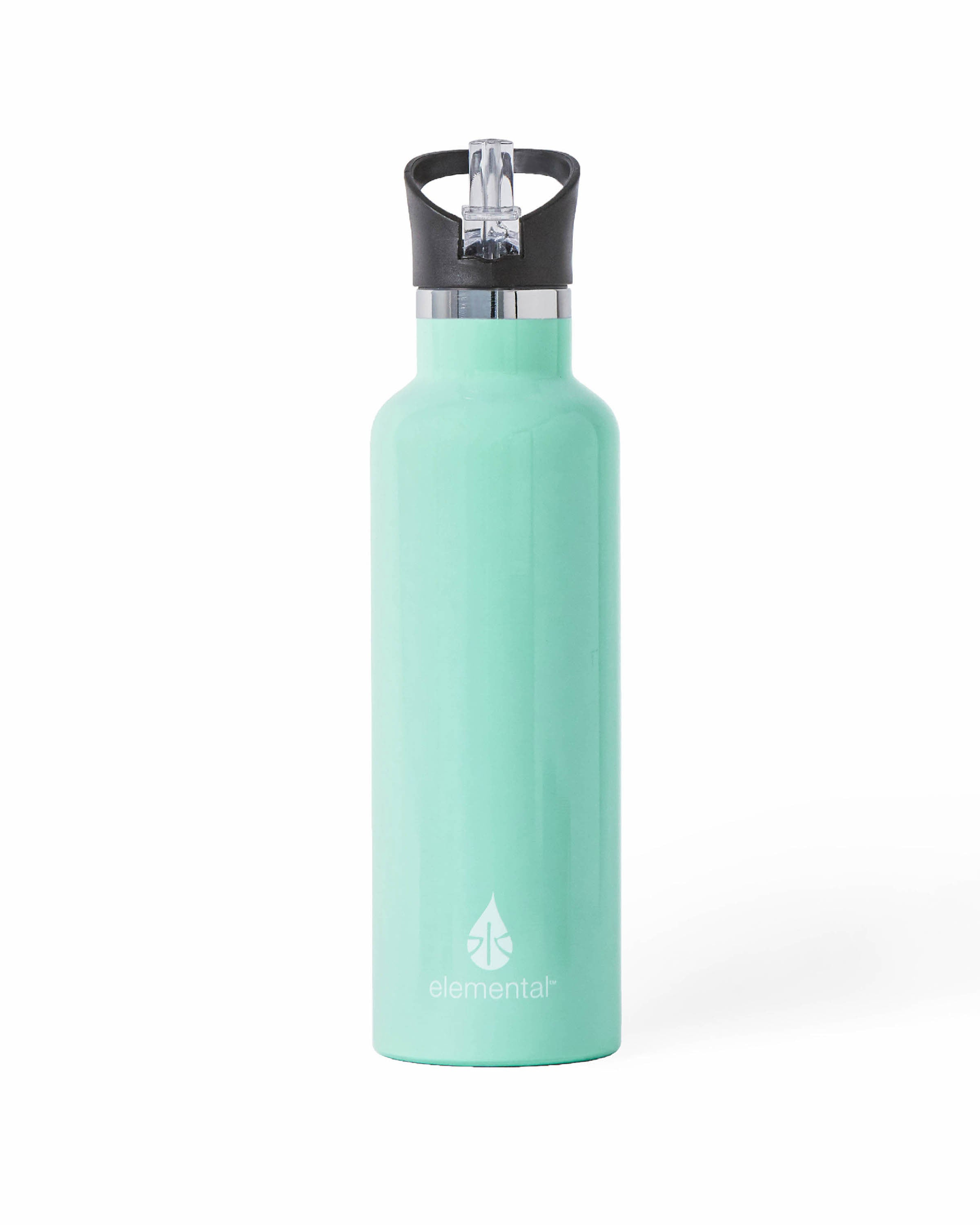 Elemental Stainless Steel Sport Water Bottle - 25oz Gloss Mint - Elemental Gifts