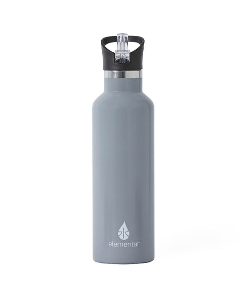 Elemental Stainless Steel Sport Water Bottle - 25oz Storm Grey - Elemental Gifts