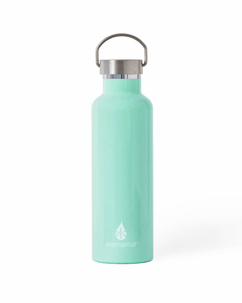 Elemental Stainless Steel Classic Water Bottle - 25oz Gloss Mint - Elemental Gifts