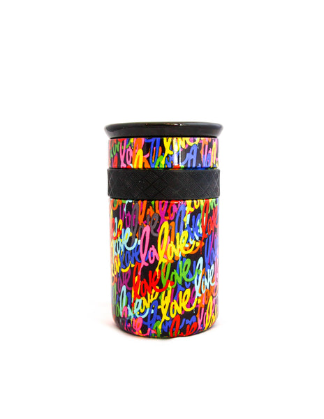 Elemental 12 oz Love Tumbler - Gloss Black Background - Elemental Gifts