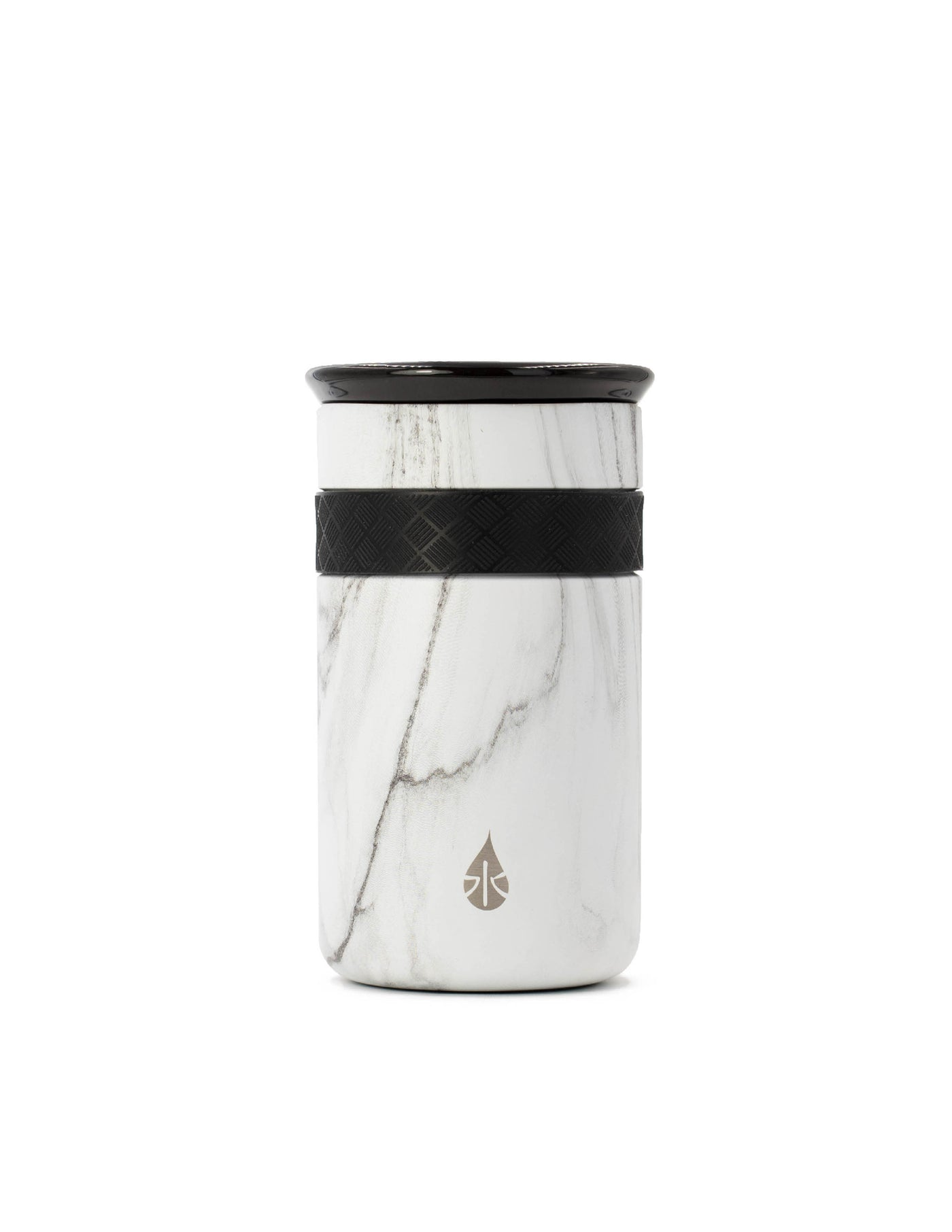 Elemental 12 oz Tumbler - White Marble - Elemental Gifts