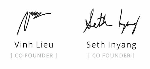 Elemental co-founders' signatures