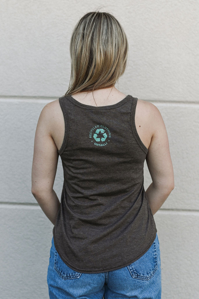 Women's Distressed Logo Tank