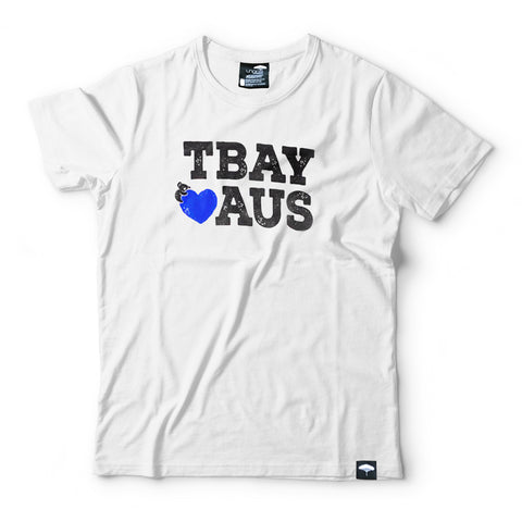 Tbay Loves Aus Tee White