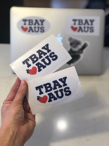 Tbay Loves Aus Sticker
