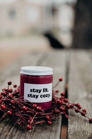 Stay Lit. Stay Cozy.  Waxxed Candle Co.