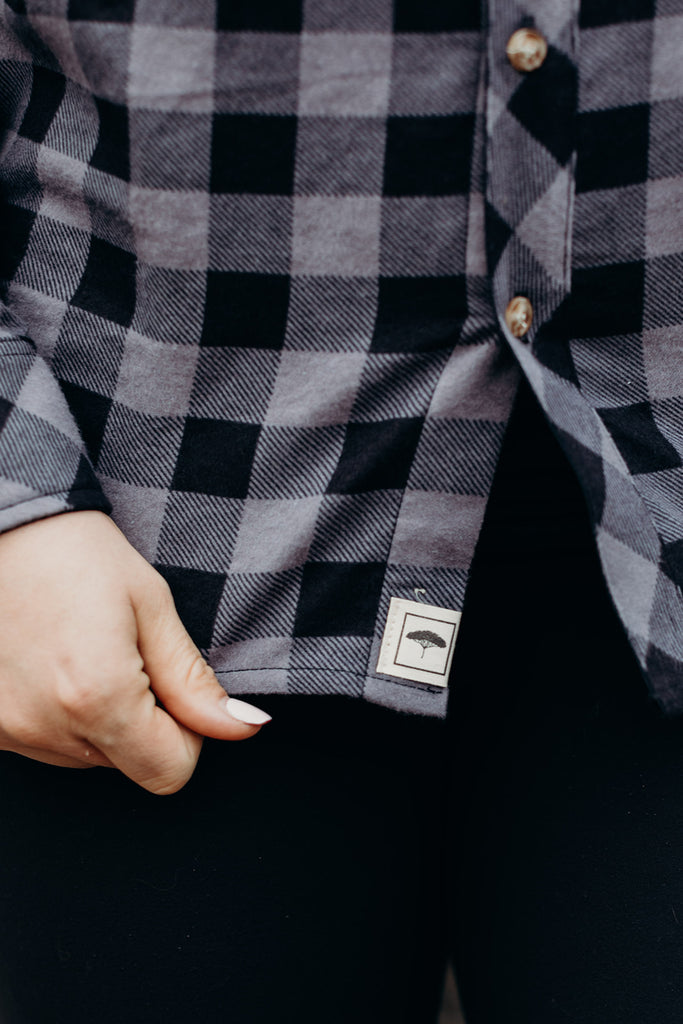 Grey Plaid Ungalli Flannel