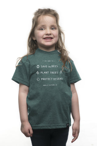 Save the Bees Unisex Kid's Tee