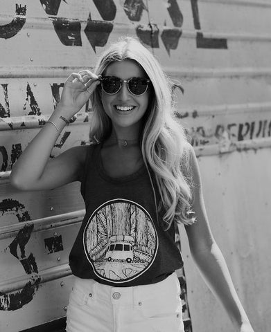 Women's Hippie Tank Black