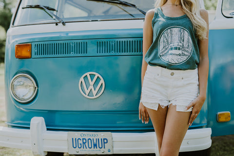 Womens Green Hippie tank