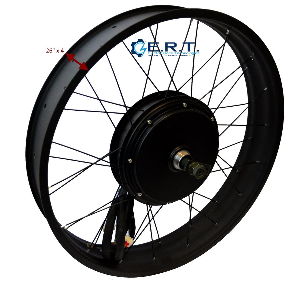 "QS 3000W V3 26"" x 4 3.5T Electric Rear Hub Motor Fat Bike"