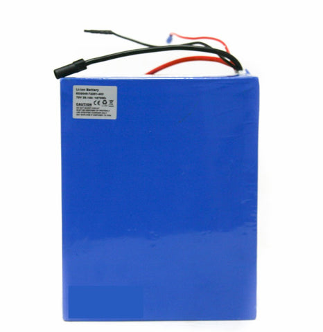 72v 26.1ah 1879wh Panasonic Cells Lithium Battery