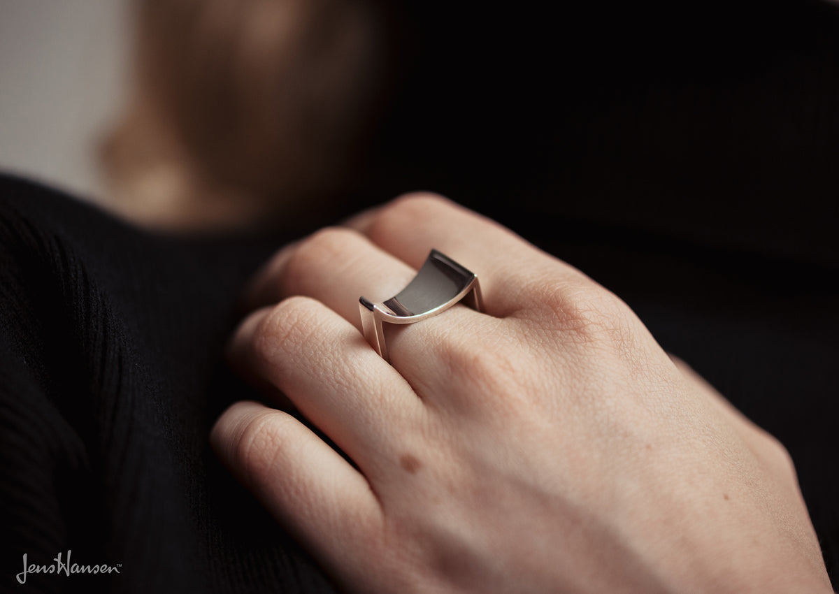 2008 Foundation Release Sterling Silver Asymmetrical Ring