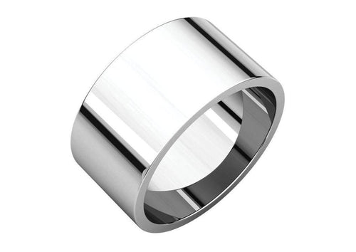 3-12mm Classic Flat Wedding Band. White Gold, Palladium & Platinum   - Jens Hansen - 3