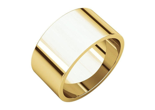 3-12mm Classic Flat Wedding Band. Yellow Gold.   - Jens Hansen - 3