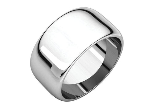 3-12mm Classic Half Round Wedding Band. White Gold, Palladium & Platinum   - Jens Hansen - 3
