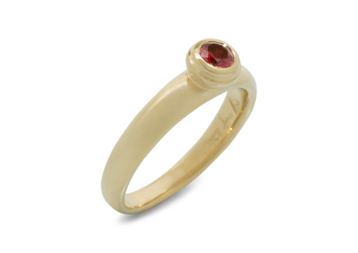 Petite Gemstone Ring, Yellow Gold