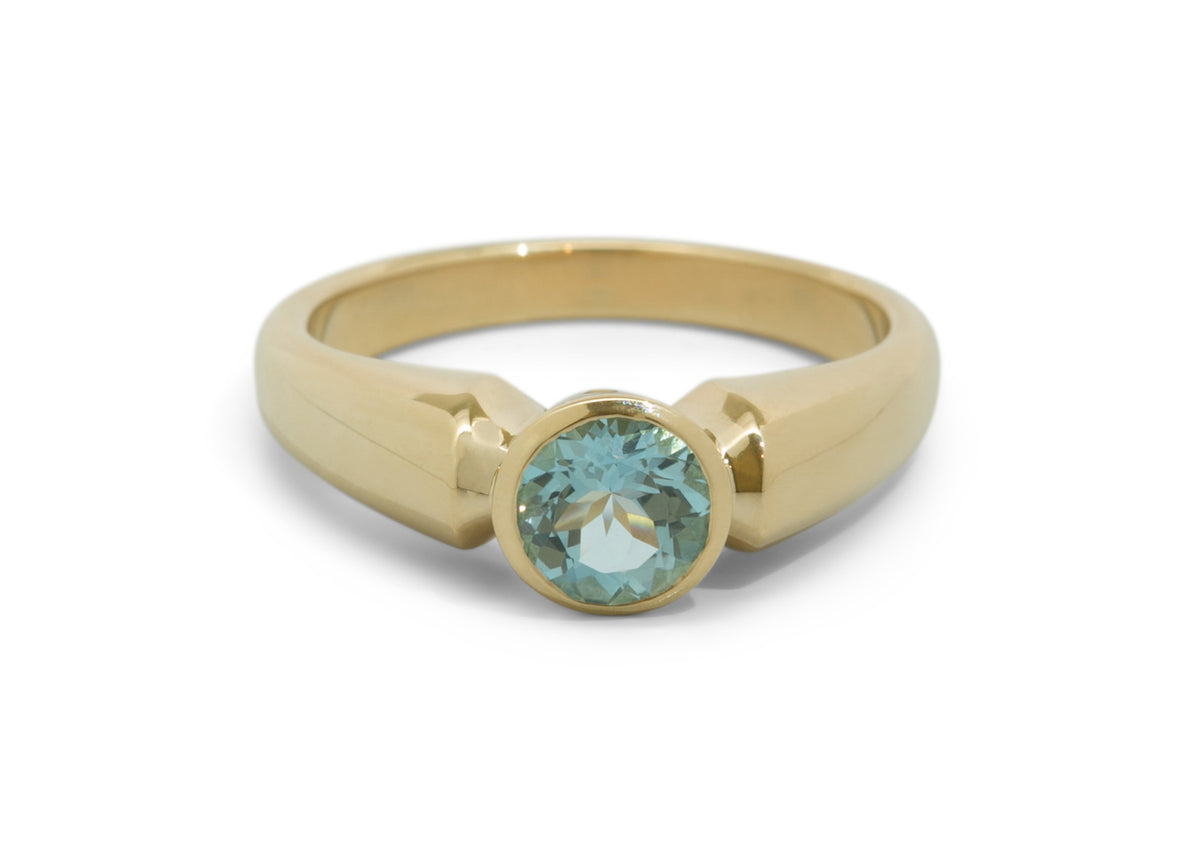 Timeless Gemstone Ring, Yellow Gold