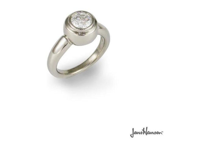 18ct white gold and diamond ring   - Jens Hansen