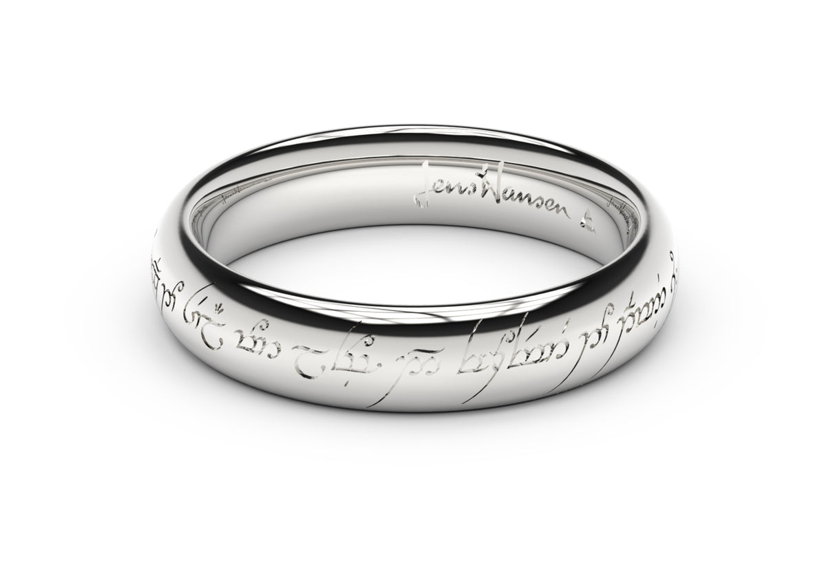Petite Elvish Love Ring White Gold & Platinum