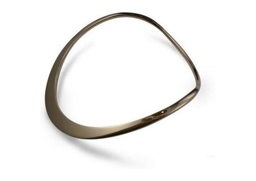 18ct Gold Hand Forged Fitted Neck Collar   - Jens Hansen