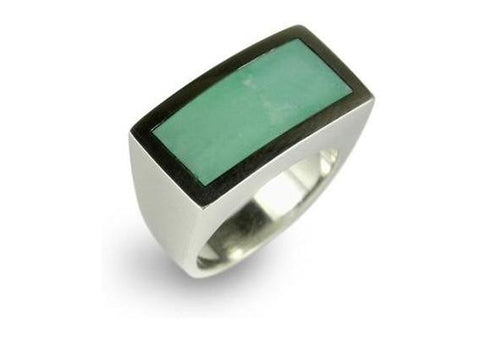 Sliver & Aqua Resin Ring   - Jens Hansen