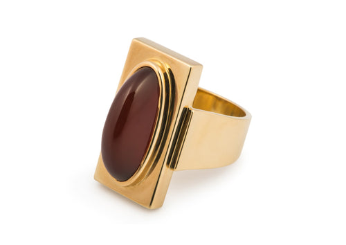 2018 Legacy Navette Ring, Yellow Gold