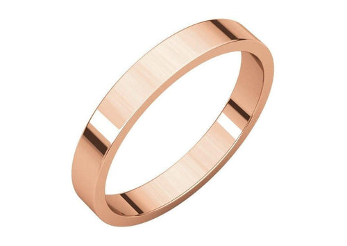3-12mm Classic Flat Wedding Band. Red Gold.   - Jens Hansen - 2