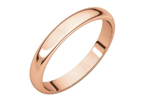 3-12mm Classic Half Round Wedding Band. Red Gold.   - Jens Hansen - 2