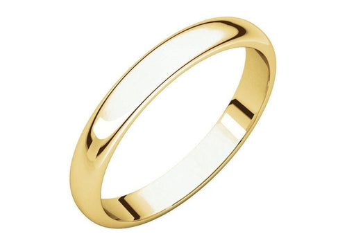 3-12mm Classic Half Round Wedding Band. Yellow Gold.   - Jens Hansen - 2