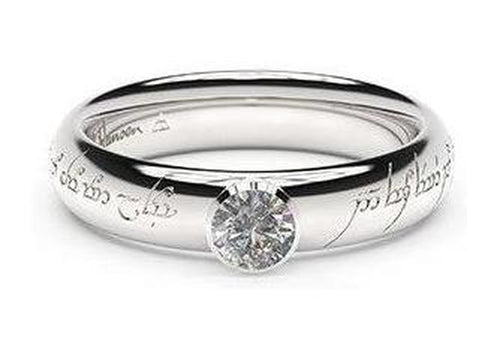 Elegant Elvish Engagement Ring, ~.33ct Palladium
