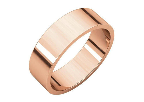 3-12mm Classic Flat Wedding Band. Red Gold.   - Jens Hansen - 3