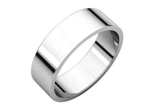 3-12mm Classic Flat Wedding Band. White Gold, Palladium & Platinum   - Jens Hansen - 2