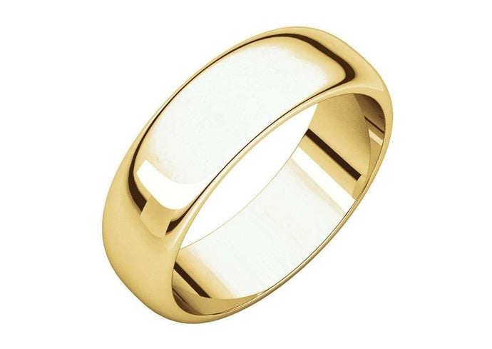 3-12mm Classic Half Round Wedding Band. Yellow Gold.   - Jens Hansen - 1