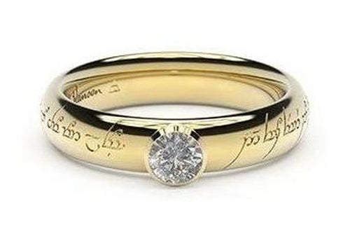 Elegant Elvish Engagement Ring, ~.33ct 22ct Yellow Gold