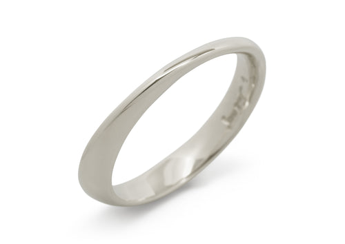Möbius Twist Ring, White Gold & Platinum