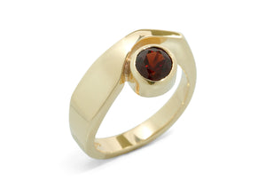 Asymmetric Gemstone Ring, Yellow Gold