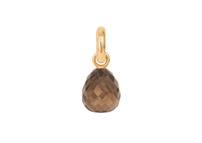 Sweet Drops Charm in 18ct Yellow Gold with Smoky Quartz
