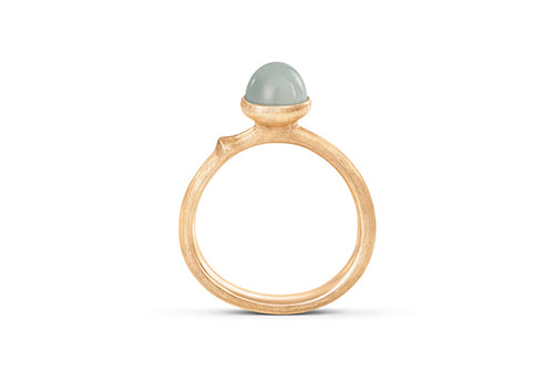 Lotus Ring in 18ct Yellow Gold with Aquamarine