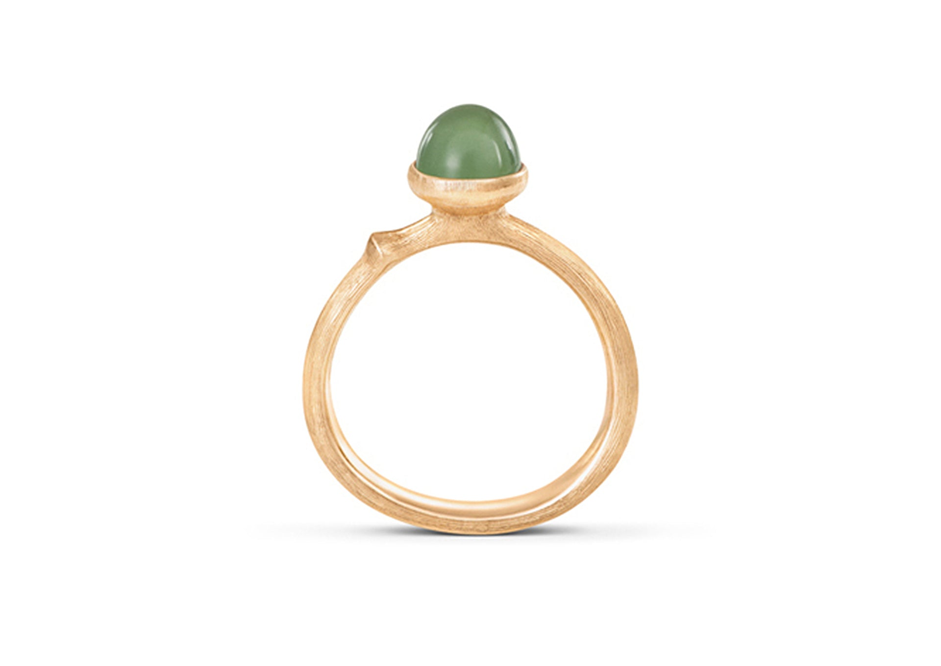 Lotus Ring in 18ct Yellow Gold with Serpentine